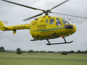 Air Ambulance answers its first emergency call
