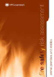 Fire risk assessment - animal premises/stables