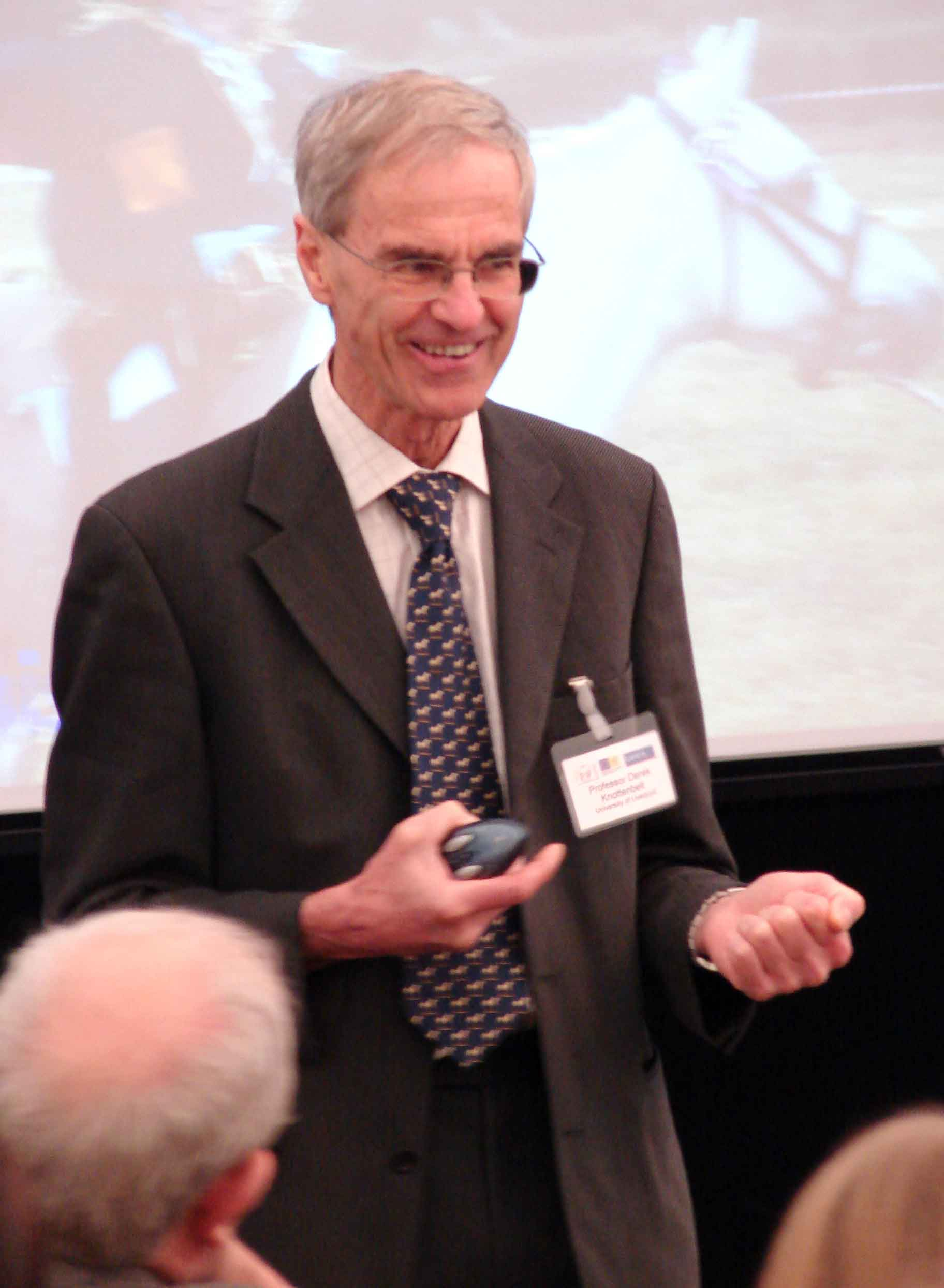 Professor Derek Knottenbelt at the Conference